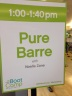 Pure Barre sign