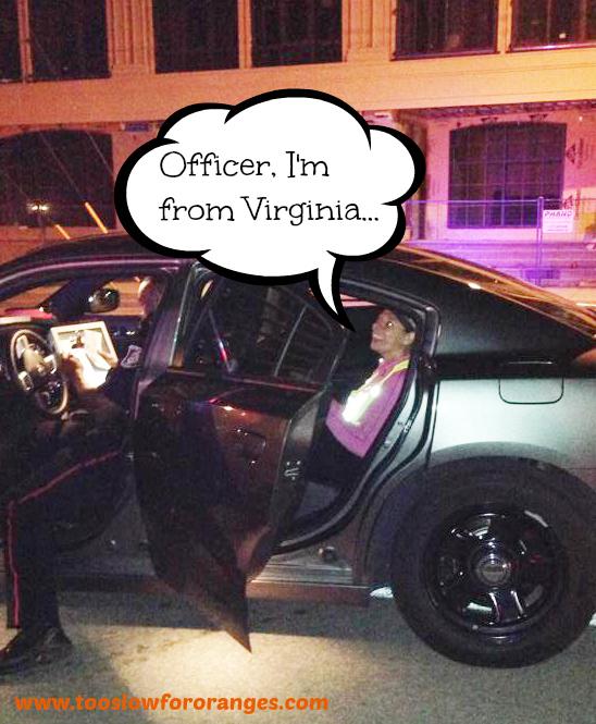 Kelli in the cop car GIF