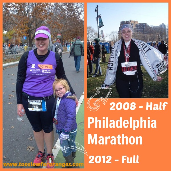 Philadelphia Marathon '08 and '12