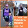 Philadelphia Marathon '08 and '12