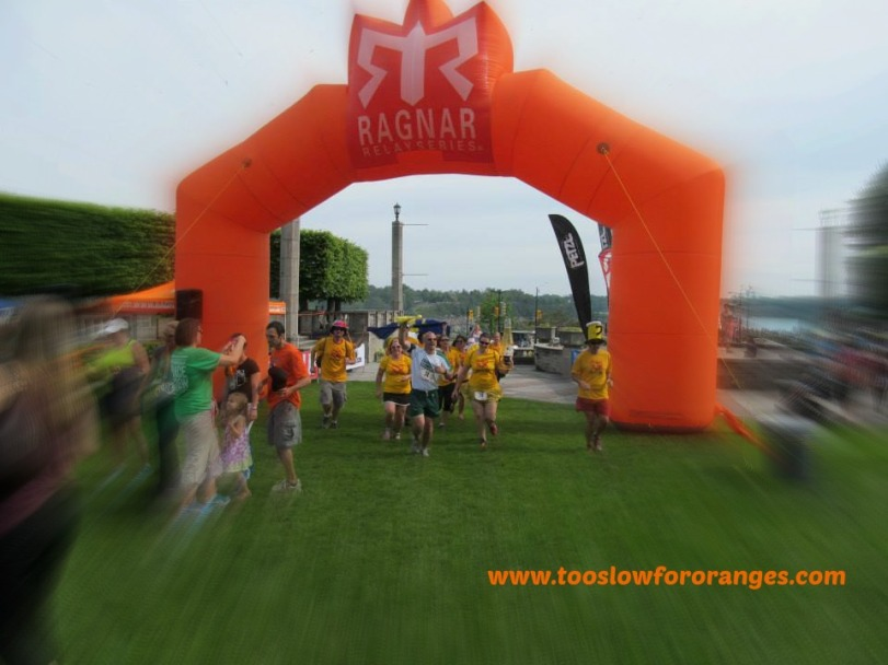 The Finish Line of the Ragnar Relay Niagara Falls
